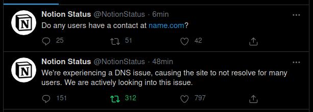 Primer Tweet indicando el problema e intentando contactar a su proveedor
