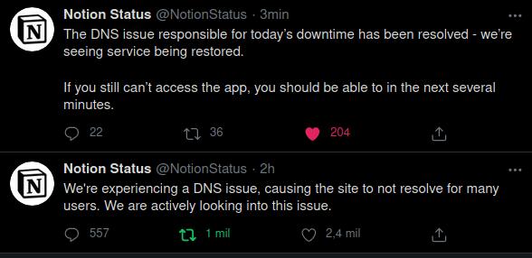 La diferencia de tiempo entre los tweets es aprox. dos horas